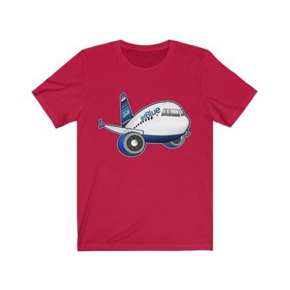 airplaneTees jetBlue Airbus Tee - Unisex Jersey Short Sleeve Tee 16