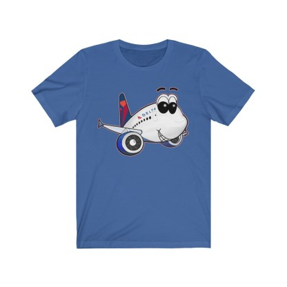 airplaneTees Delta Smiles Airbus Tee – Unisex Jersey Short Sleeve 8
