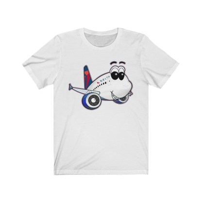 airplaneTees Delta Smiles Airbus Tee – Unisex Jersey Short Sleeve 2