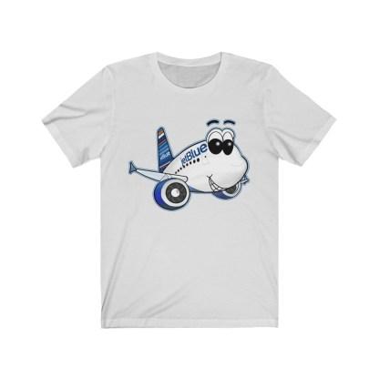 airplaneTees jetBlue Smiles Airbus Tee - Unisex Jersey Short Sleeve 3