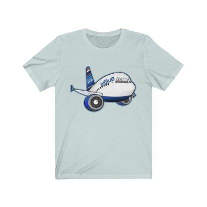 airplaneTees jetBlue Airbus Tee - Unisex Jersey Short Sleeve Tee 9