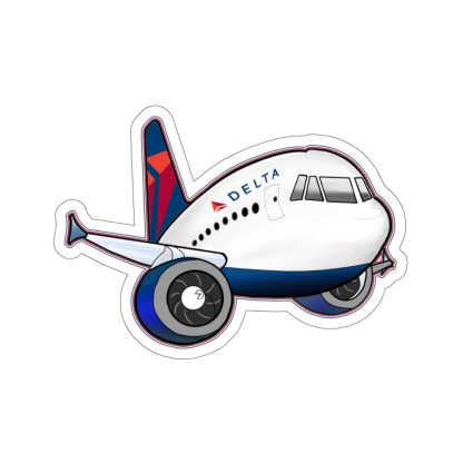 airplaneTees Delta Airbus Stickers - Kiss-Cut 5