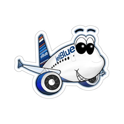 airplaneTees jetBlue Smiley Airbus Stickers - Kiss-Cut 3