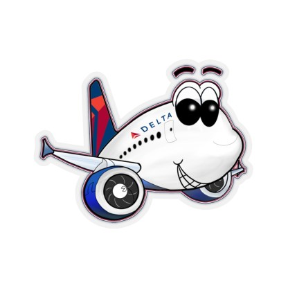 airplaneTees Delta Smiley Airbus Stickers - Kiss-Cut 11