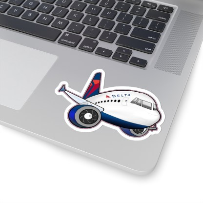 airplaneTees Delta Airbus Stickers - Kiss-Cut 14