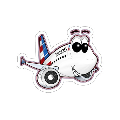 airplaneTees American Airbus Smiley Stickers - Kiss-Cut 5