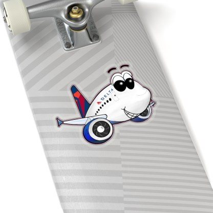 airplaneTees Delta Smiley Airbus Stickers - Kiss-Cut 2