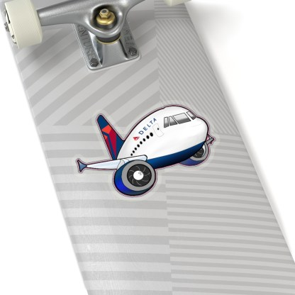 airplaneTees Delta Airbus Stickers - Kiss-Cut 2