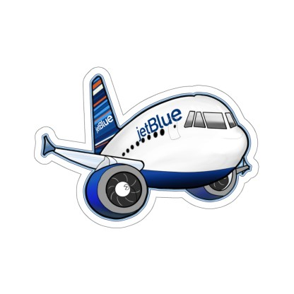 airplaneTees jetBlue Airbus Stickers - Kiss-Cut 1