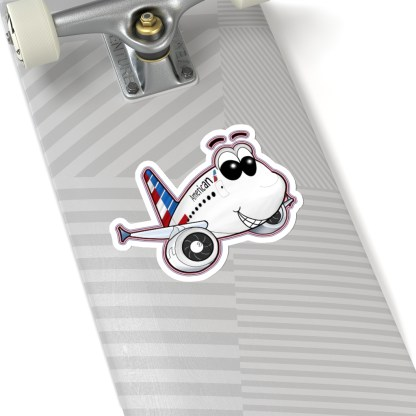 airplaneTees American Airbus Smiley Stickers - Kiss-Cut 8