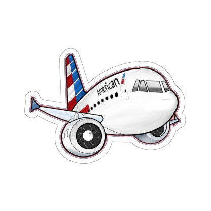 airplaneTees American Airbus stickers - Kiss-Cut 7