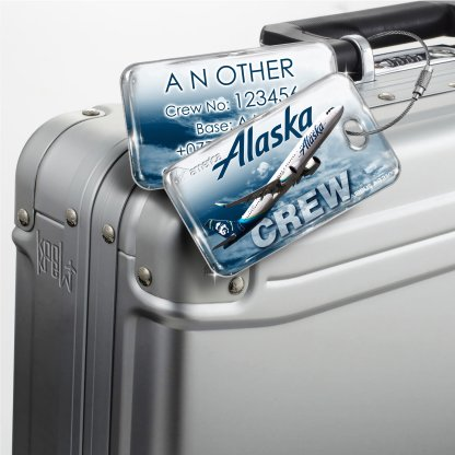 airplaneTees Alaska Airlines Luggage Tag A321NEO 3