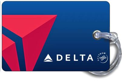 airplaneTees Delta Airlines Logo Blue Luggage Tag 4