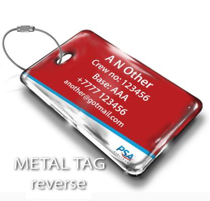 airplaneTees PSA Airlines Logo Luggage Tag 2