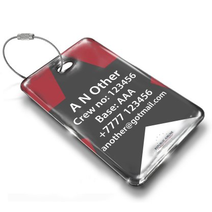 airplaneTees Republic Airline Logo Portrait Luggage Tag 4