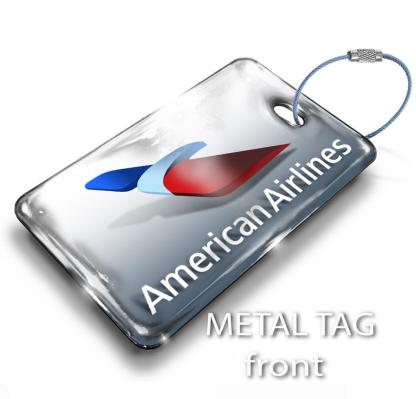 airplaneTees American Airlines Logo Luggage Tag 2 1