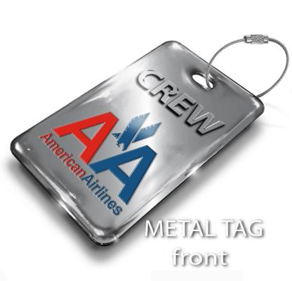 airplaneTees American Airlines OLD LOGO Luggage Tag - Portrait 1