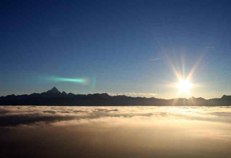 Saut en parachute Tandem : vue sur les Alpes