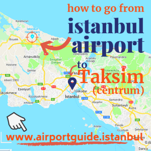 how to go to taksim (centrum) from istanbul airport isl ist