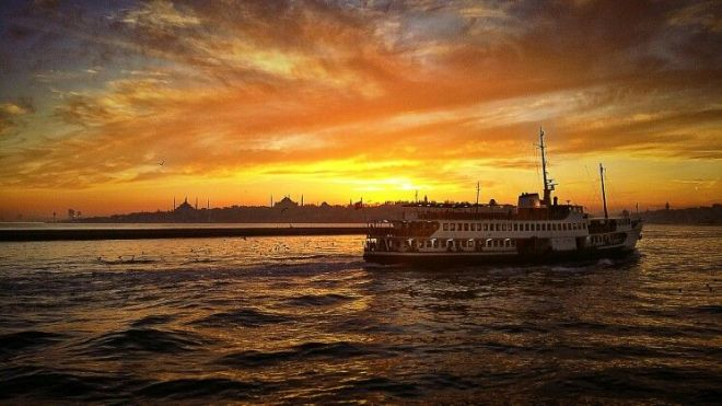 Sunset at Istanbul