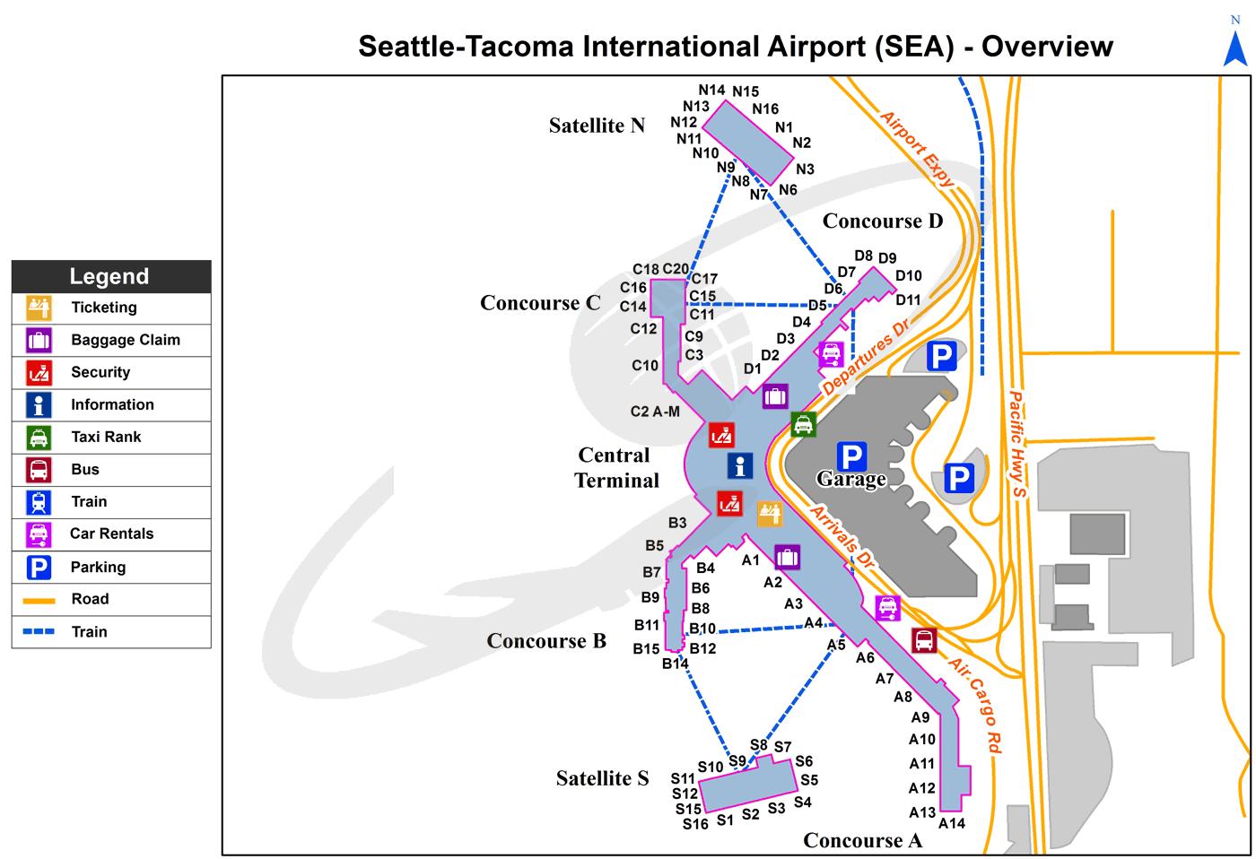 Seattle Tacoma International Airport Sea Washington