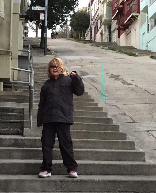 Lachlan enjoying a week in San Francisco