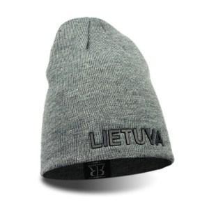 Trumpa kepurė LIETUVA pilka