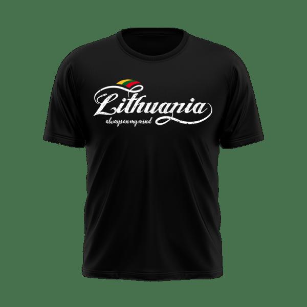 Vyriški marškinėliai LITHUANIA ALWAYS ON MY MIND