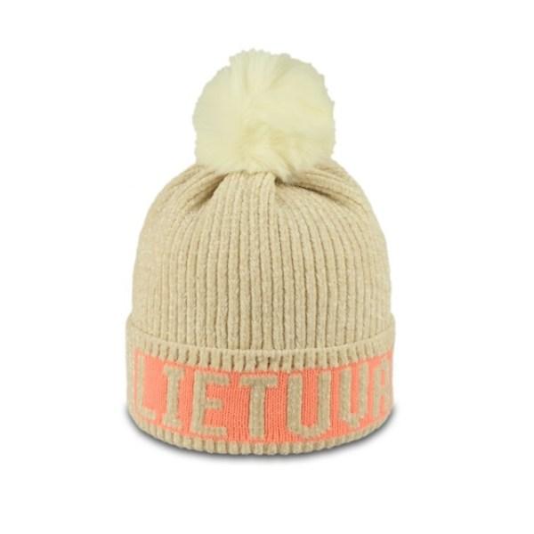 Žieminė kepurė LIETUVA smėlio spalvos