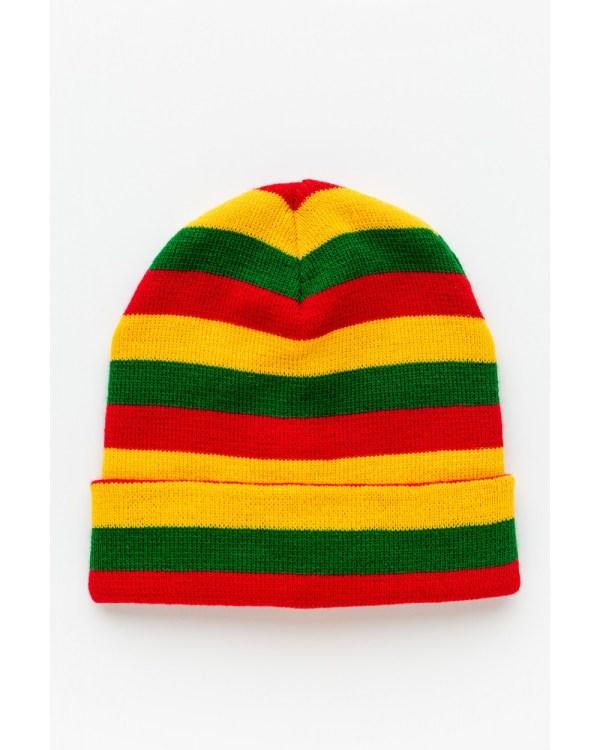 Trispalvė dryžuota kepurė