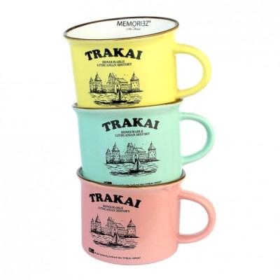 Keramikinis puodelis su istorija TRAKAI