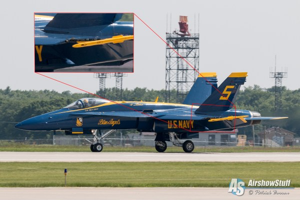 Blue Angel #5 Loses Part Of Wing At Rockford Airfest ...