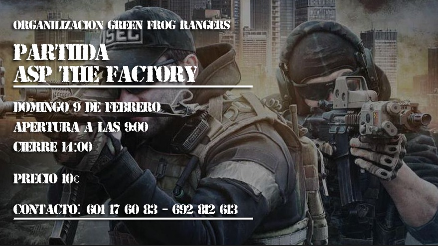 Partida Airsoft ASP The Factory