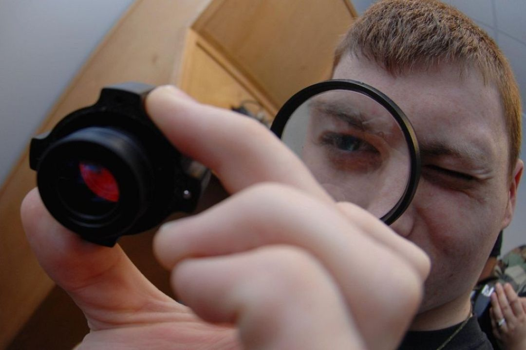 Checking Objective lens