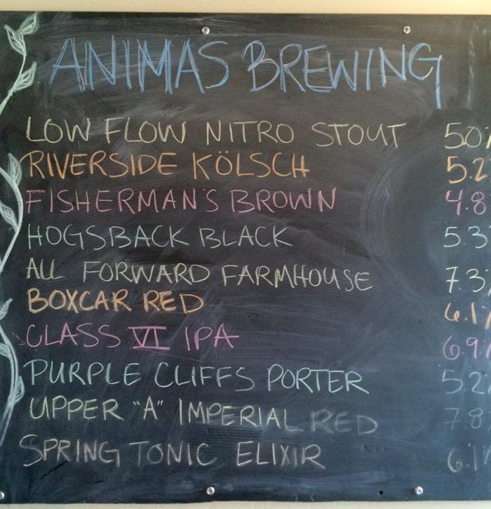 animas brewing beer list