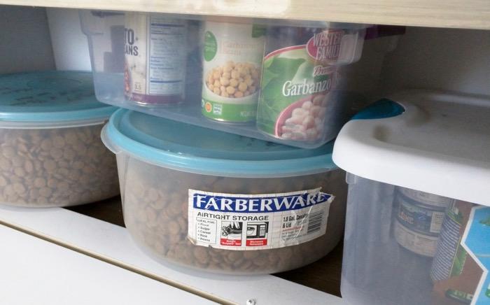 dog food bins on airstream