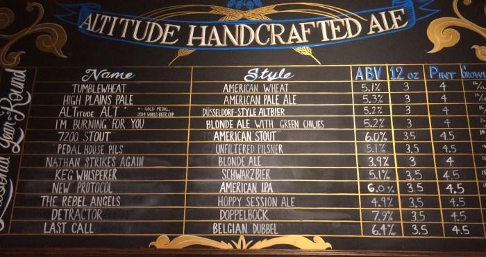 altitude brewery beer list