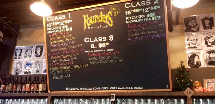 founders beer list