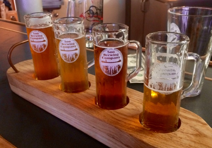 soo brewing beer flight