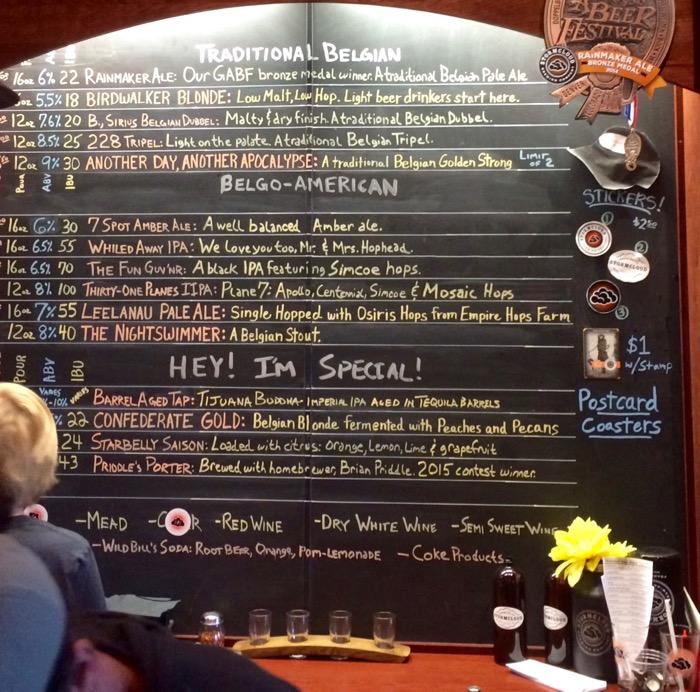 stormcloud brewing frankfort michigan beer list