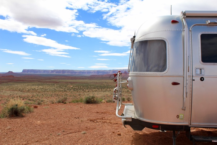 airstream in valley of the gods utah