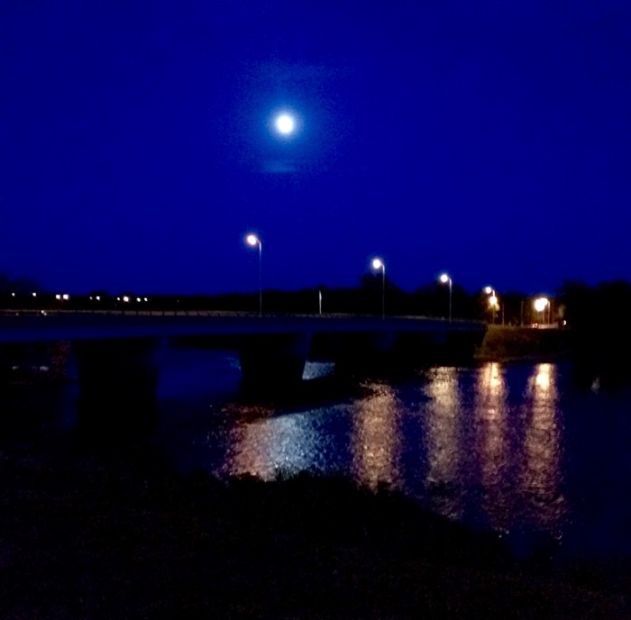 moon over the chippewa river