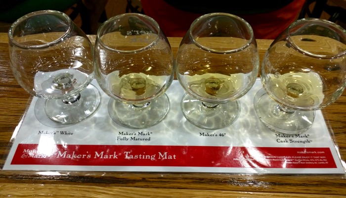 makers mark tasting flight