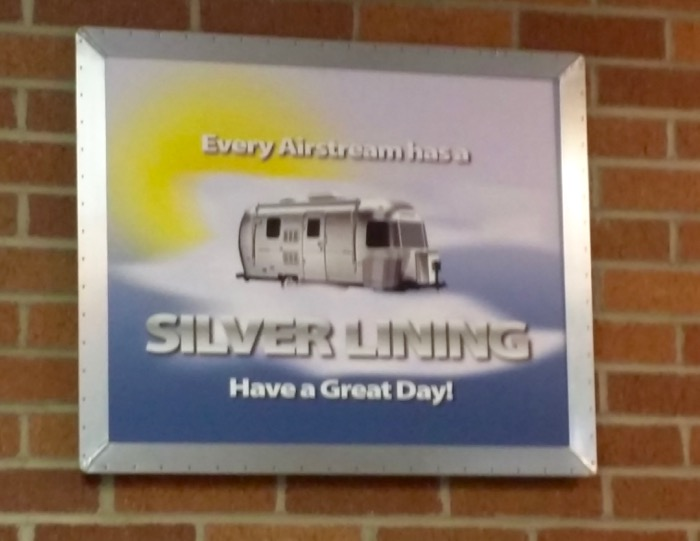 airstream silver lining sign