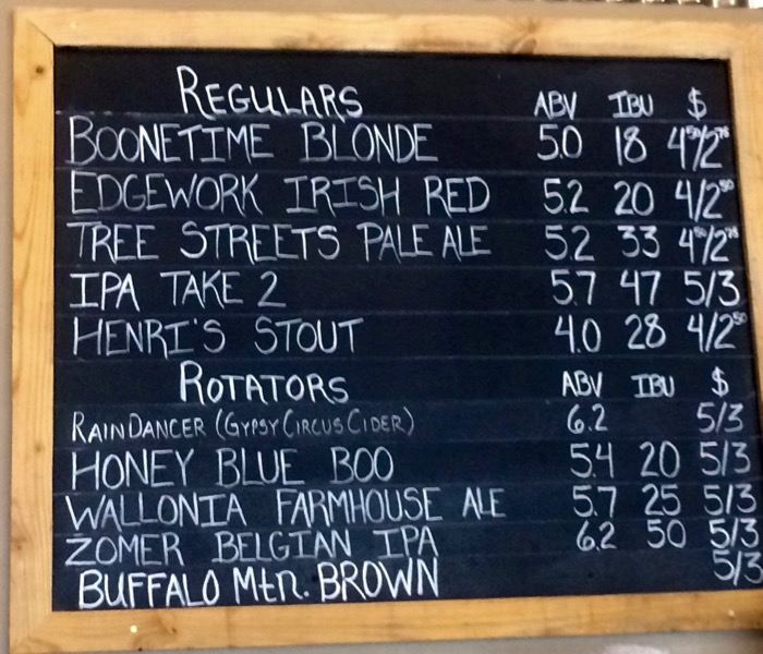 JRH Brewing beer list