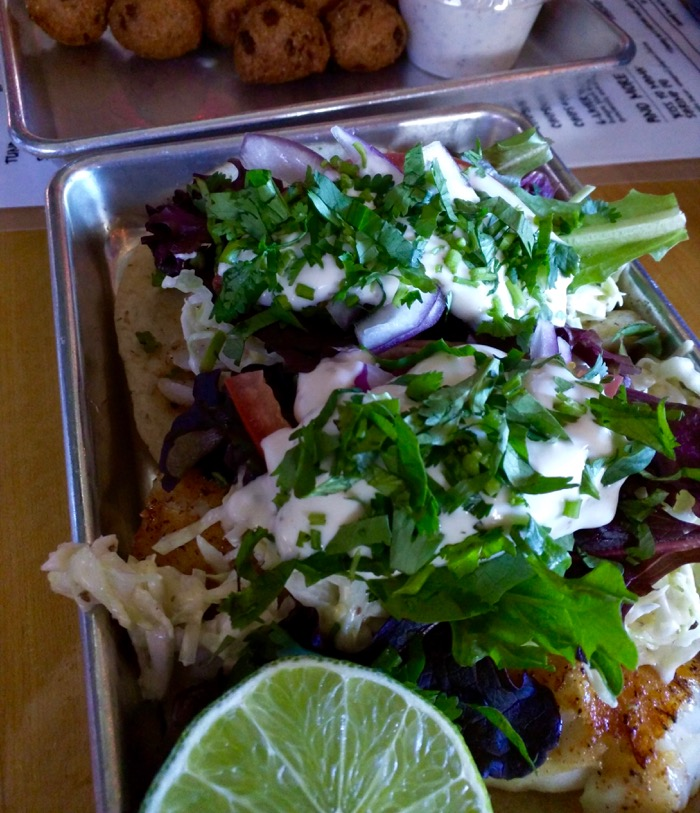 fish tacos from turf and surf