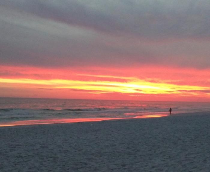 sunset at henderson beach state park