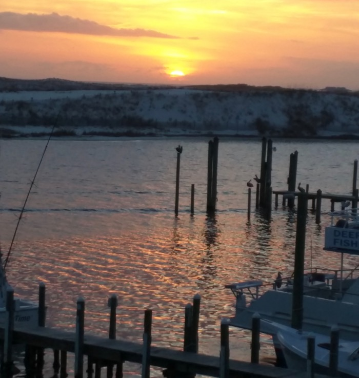 destin harbor sunset