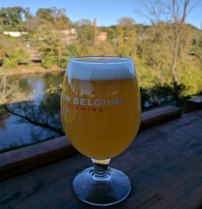 new belgium brewing on the french broad river