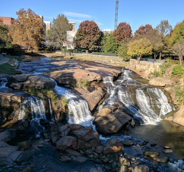 reedy river falls greenville